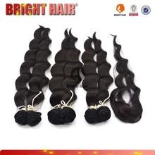 Top grade natural looking human hair blend 100 kanekalon synthetic hair fiber