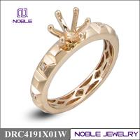 18K rose gold semi mounting engagement diamond ring jewelry