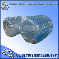 Commerical Inflatable Water Roller for Rental , Elastic or Plastic Handle