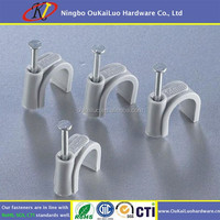 Round Plastic Wall Cable Clip