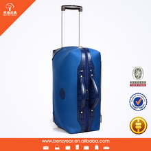 Travel Bag on Wheels Korea Style Fabric and Leather Travel bag with Factory Cheap Price