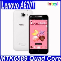"""Original Lenovo A670T GSM Phone 4.5"""" Android 4.2 MTK6589 Quad Core Dual SIM Cards 512M 4G With GPS Good Camera Support Russian"""