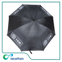 23inch straight auto open logo on 4 panels promo rain safety umbrella