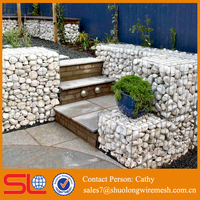 Protecting slope welded stone cages wire mesh gabion box