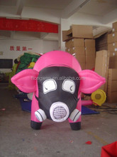 PVC advertising inflatable pink pig model inflatable cartoon