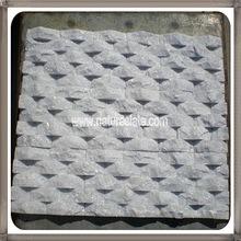Blanco cuarcita de la onda de piedra paneles