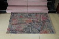 Designer hot sale nylon flocked door mat with rubber back