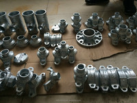 UL FM CE approved ductile cast iron grooved pipe fittings galvanized and flexible coupling clamp