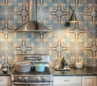 Washable fireproof moisture-proof vinyl wallpaper for kitchen