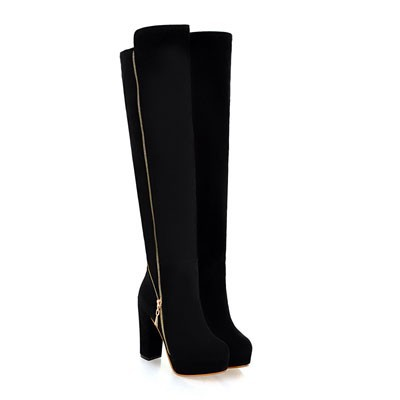 ENMAYER Free Shipping Over-the-Knee BOOTS Chains High Heel Boots