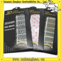 2013 non-toxic glitter 3d art sticker nail