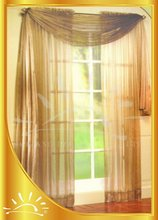 100%Polyester solid dye Organza curtain with valance