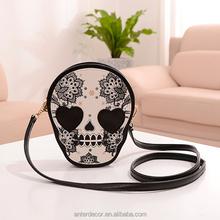 2014 fashion ladies skull leather bag evening bag