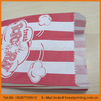 stripe food bag 2014 customer kraft paper shopping bag/ popcorn bag