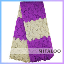 Mitaloo Two Tone Guipure Lace Purple Color African Cord Lace MCP0111