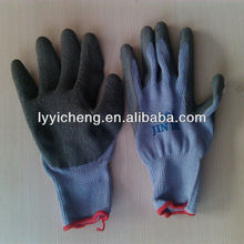 sring knit with latex rubber coated palm work safety gloves
