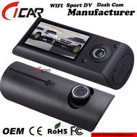 Original! Dual lens 140 degree Wide Angle G-sensor Car DVR Manual Car Camera HD DVR GPS Car Black Box with Exquisite Design