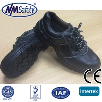 NMSAFETY black leather safety footwear/steel toe safety shoes/footwear