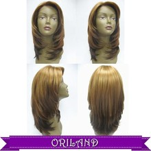 Promotional Premium fiber compatible with 100% human hair cheap price 50% discount noble gold synthetic hair