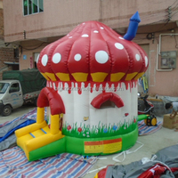 2015 hot kids mushroom inflatable bouncer castle