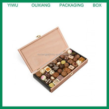 cheap design solid wood arabic chocolate sweet packing box