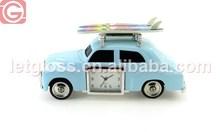 Classic zinc alloy Travelling surfboard table car clock