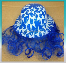 Cheap dance party supplies ---PVC round map with wig