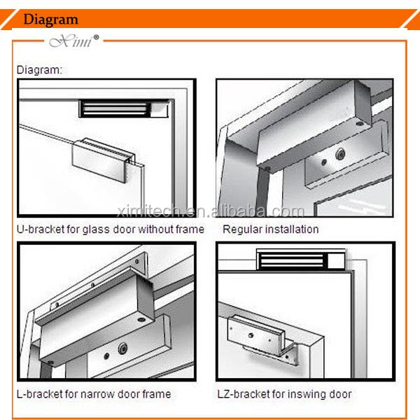 12v 24v Swing Gate Electric Lock Magnetic Door Lock Frameless Glass