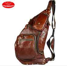real leather chest bag for men /real leather summer bag for men cool /new