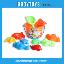 All kinds plastic beach toys for kids with beach bucket