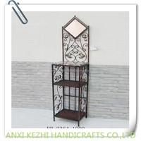 iron bathroom dressing table with rack