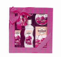 Sexy bottle palatable cherry body care products