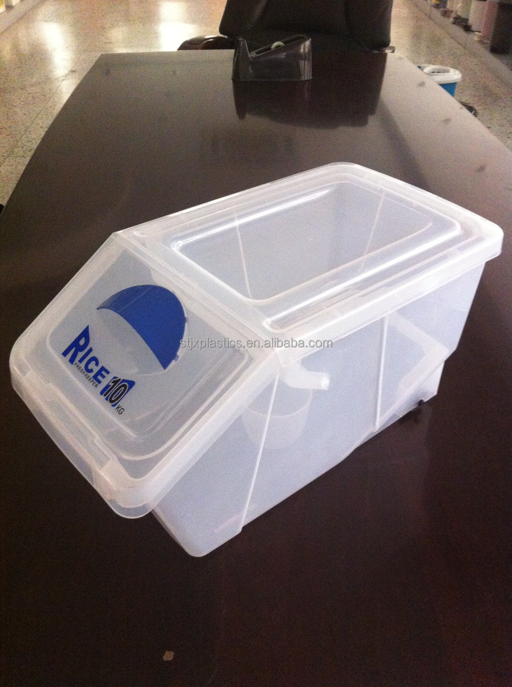 10kg Plastic Rice Bin Food Storage Container With Flip