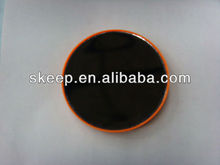 2013 Round plastic single sided mirror makeup mirror wall compact mirror with 2 pcs suction cups