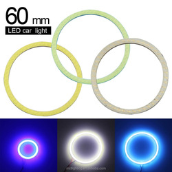 2 piece/1pair COB Angel Eyes 60mm auto led lighting COB angel eyes color changing cob led light