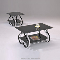 Bentwood glass coffee table