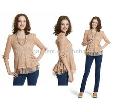 Girl formal lace blouses and tops