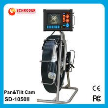 A prueba de agua y pan tilt máquina de coser de la cámara de inspección 30-140m cable