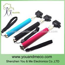 aleación de aluminio clip telefono del obturador controlador de mano monopod para la cámara digital