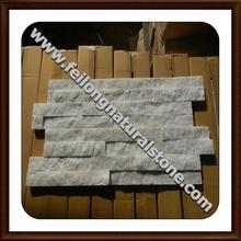 cuarcita blanca de la decoración de piedra de la fachada