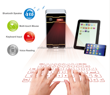 laser keyboard and wireless mouse functionof voice reading via usb or bluetooth for mouse ipad,android tablet, laptop
