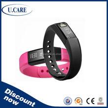 Adjustable OLED display bluetooth health bracelet, bluetooth programmable bracelet, good health bracelet