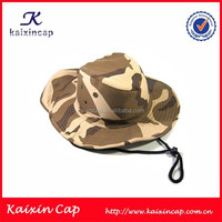 wholesale high quality blank cotton camo winter bucket cap/hat with string