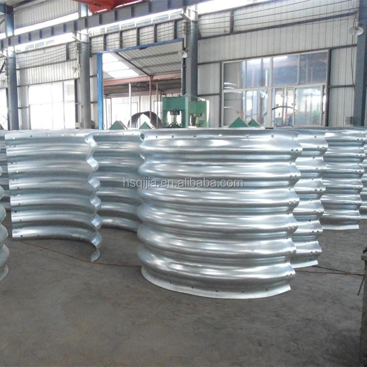 Large diameter corrugated galvanized steel culvert pipe
