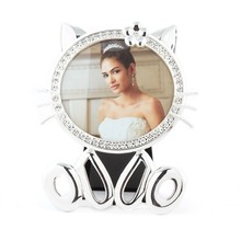 zinc alloy girls' promotional gift /Christmas gift photo frame / cute animal shaped photo frame