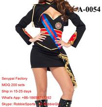 2015 Halloween New Hot Sexy US Army Camouflage Costume Women Cosplay Ladies Top Bra Cap gloves Mini Skirt stocking