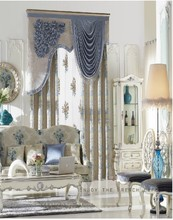Luxury Chenille Jacquard Fabric Curtain Double Layer Curtain