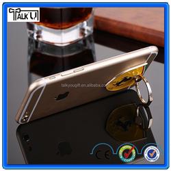 360 rotating metal mobile phone ring bracket/metal ring shape mobile phone stand holder/reusable glue cell phone ring holder
