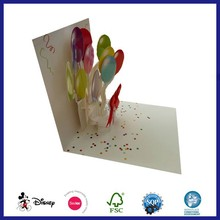 Wholesale New Design 3D Pop Up Christmas Free Greeting Card
