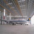 la construcción de acero hangar